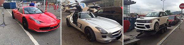 Перевозка автомобилей FERRARI, Mercedes-AMG и RANGE в Сен-Тропе