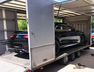 Доставка авто открытыми и закрытыми автовозами в Германию