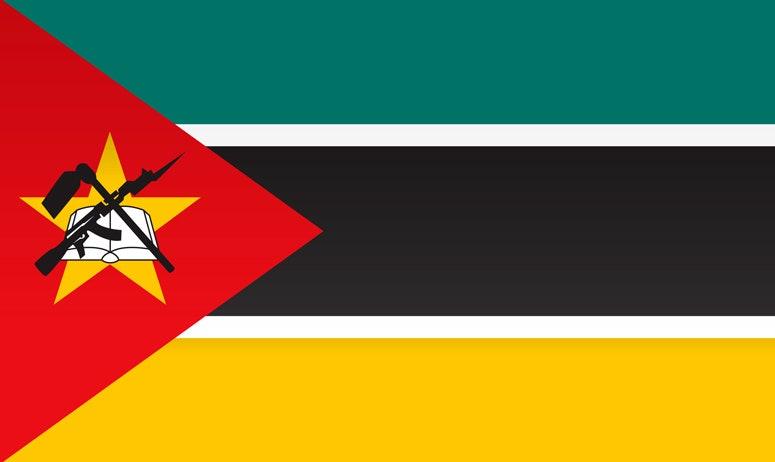 Флаг страны Мозамбик
