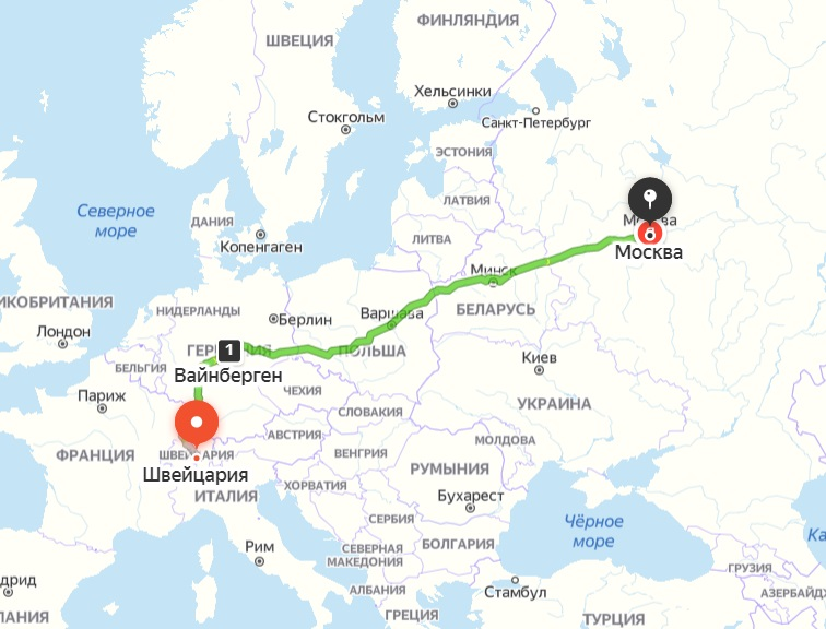 картинка карты перевозки из Швейцарии