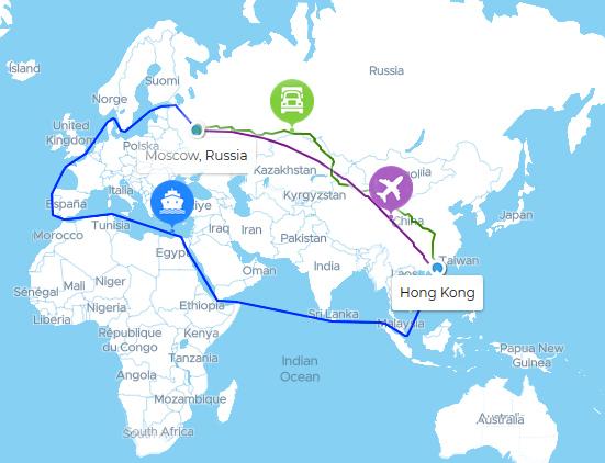 доставка из Китая морем, авто, авиа