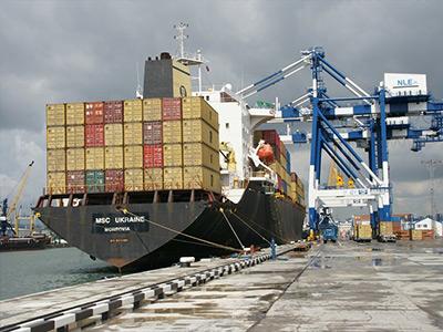 фото как загружают контейнеровоз